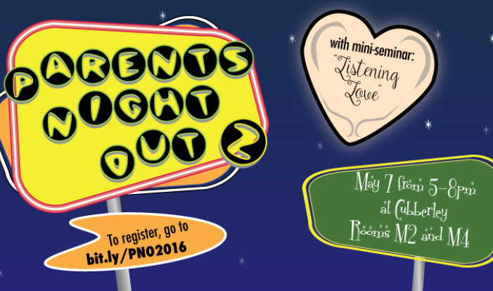Parents' Night Out - May 7 2016 5:00 PM