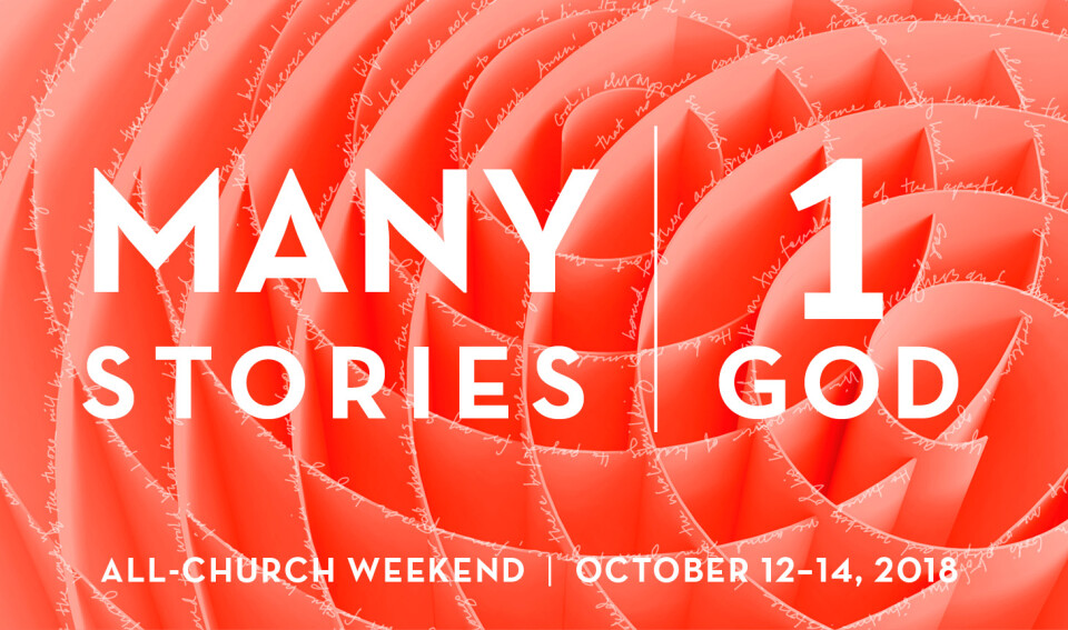 All Church Weekend 2018: Many Stories, One God