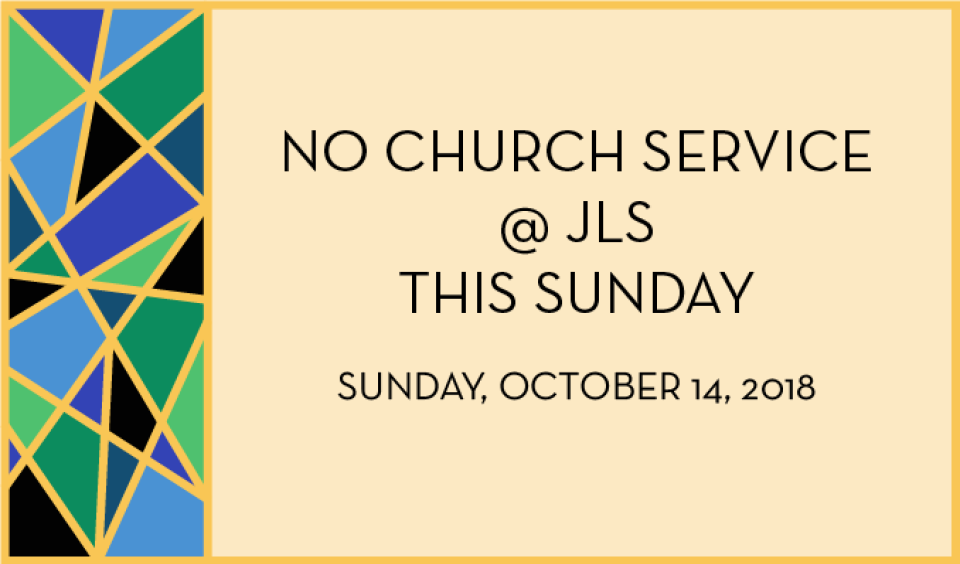 No Sunday Church Service